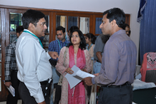 Discussions during the workshop